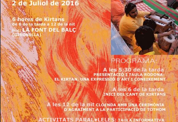 1er. GIRONELLA KIRTAN FESTIVAL - 2 DE JULIO DE 2016 EN GIRONELLA (BARCELONA)